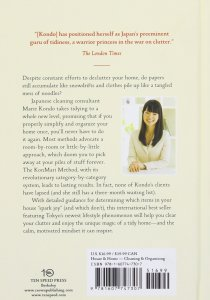 Marie Kondo's the life changing magic of tidying up book
